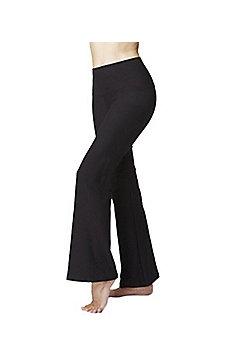 Lightweight Women's Slimming Tummy Control Shapewear Standard Waist Bootcut Bottoms Black - Regular Length - Black