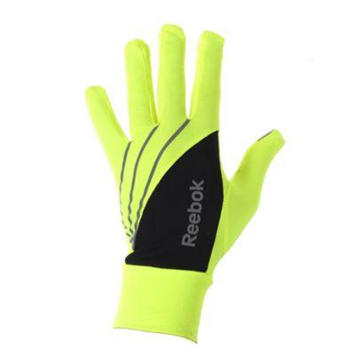 Reebok Hi-Vis Running Gloves Yellow - S