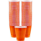 Orange Cups - 473ml Plastic Party Cups - 50 Pack