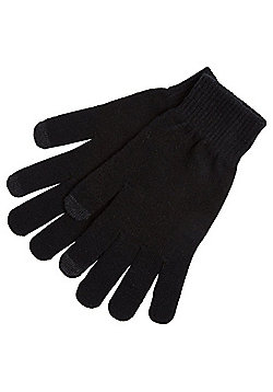 F&F Stretch Touch Screen Gloves - Black