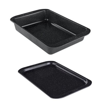 Prestige Stone Quartz Non Stick Roast Roasting Baking Tin and Tray Set
