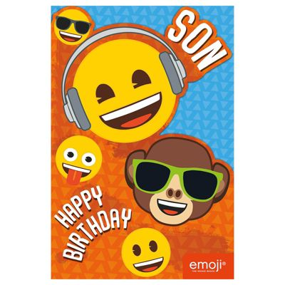 Emoji Son Birthday Card - 160mm x 235mm