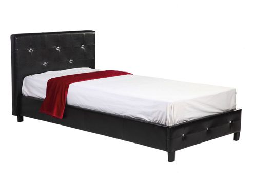 House Additions Crystal Bed Frame - Black