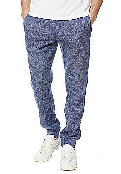 F&F Textured Cuffed Joggers - Blue marl