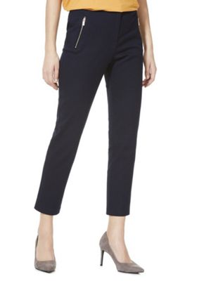 F&F Slim Fit Ankle Grazer Trousers Blue 18