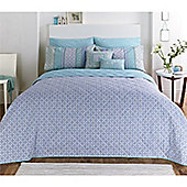 Dream n Drapes Kalisha Blue Bedspread - 229x195cm