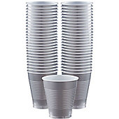 Silver Cups - 473ml Plastic Party Cups - 50 Pack