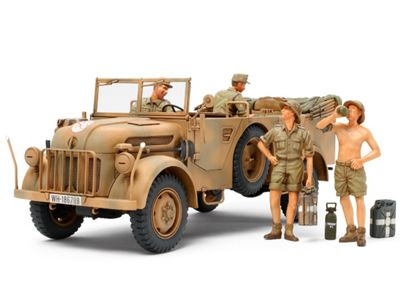 German Steyr Type 15000A/01 & Africa Corps Infantry At Rest - 1:35 Scale Military - Tamiya