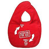 Dirty Fingers Instructions for use Baby Bib Red