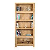 Homescapes Dakota Wide Bookcase Oak Shade