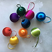 Set of Bright Vintage Christmas Baubles