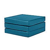 "4"" Thick Faux Leather Folding Crash Mat -Turquoise"