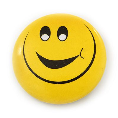 Very Happy Smiling Face Lapel Pin Button Badge - 3cm Diameter
