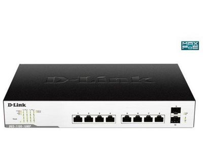 D-Link DGS-1100-10MP 10-Port Gigabit Max PoE Smart Managed Switch including 2 SFP ports