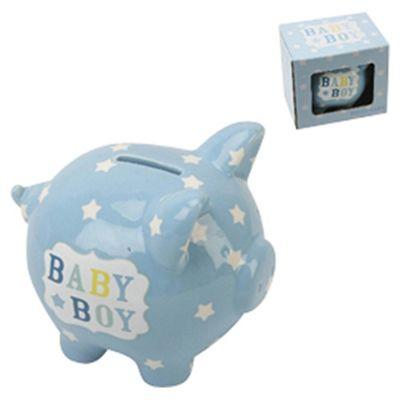 Ceramic Piggy Bank, Baby Boy