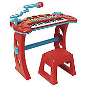 Carousel Red Rock Star Keyboard and Stool