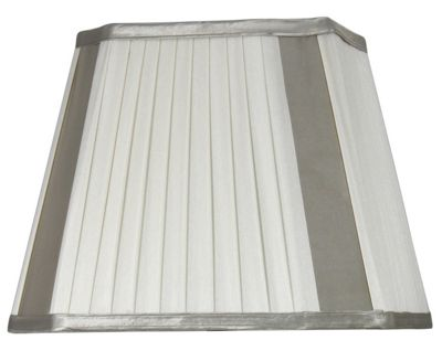 Ivory Pleated 12 inch Shade with Champagne Panels