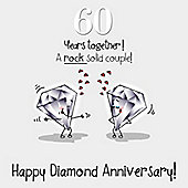 60th Wedding Anniversary Greetings Card - Diamond Anniversary