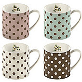 Set of 4 Katie Alice Cottage Flower Mugs