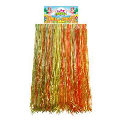 Hawaiian Adult Multi-Coloured Hula Grass Skirt Fancy Dress Accessory