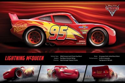 Cars 3: The Movie Lightning McQueen Stats Poster 61x91.5cm