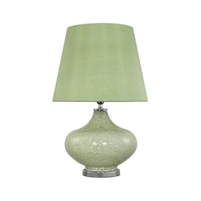 Vintage Green Sparkle Mosaic Ellipse Statement Lamp