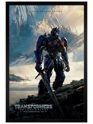 Transformers Black Wooden Framed Rethink Your Heroes Poster 61x91.5cm