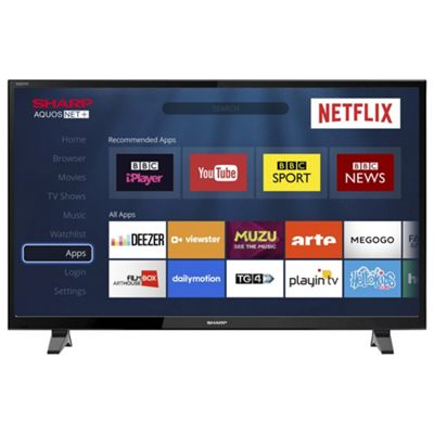 buy sharp lc 40cfg3021kf 40 inch full hd led smart tv with. Black Bedroom Furniture Sets. Home Design Ideas
