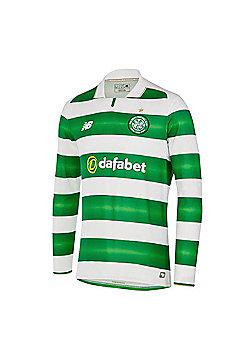 New Balance Celtic FC 2016/17 Mens Long Sleeve Home Football Shirt - White