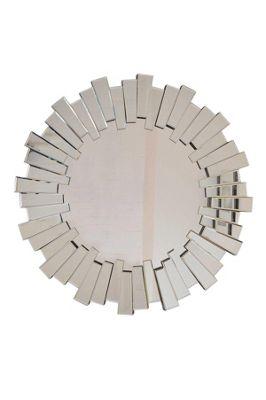 Large Modern Design Round Sophisticated Sunburst Venetain Wall Mirror 3Ft 90Cm