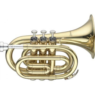 Levante Bb Pocket Trumpet with Regular Bell