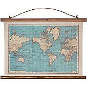 Vintage World Map Canvas Art