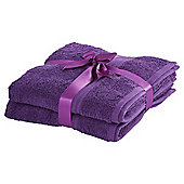 Tesco Hygro Cotton Bathroom Textiles - Purple