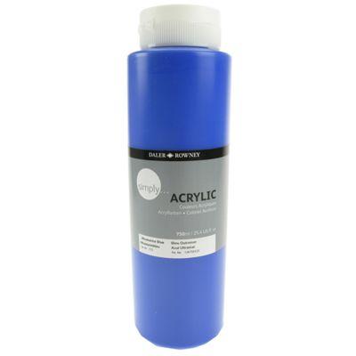 Daler Simply Acrylic Ultramarine Blue 750ml