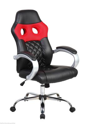 Red Hatched Racing Office Chair