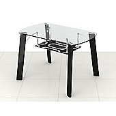 Modern Clear & Patterned Glass Dining Table - Seats 4