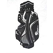 Palm Springs 14 Way Divider Golf Trolley Bag Silver