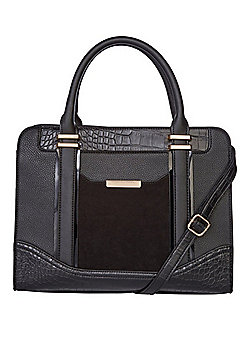 F&F Panelled Tote Bag Black One Size