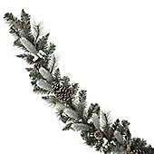 White Berry and Frosted Cone Christmas Garland, 6ft