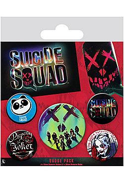 Suicide Squad Face Badge Pack 10x12.5cm - Multi