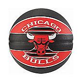 Spalding Chicago Bulls NBA Team Basketball Red/Black - Size 7