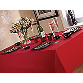 Home Creations Linen Look Tablecloth - 178 cm L x 132 cm W - Red
