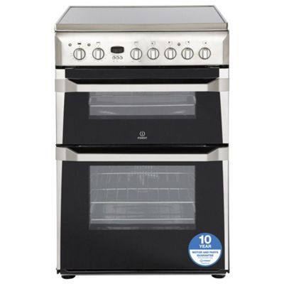 Indesit ID60C2XS Electric Double Oven Cooker - Stainless Steel