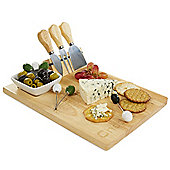 Andrew James Cheese & Olive Board with Knife Storage - Ceramic Dish & 6 Olive Forks