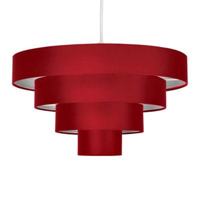 Nevada Four Tier Ceiling Pendant Light Shade, Red