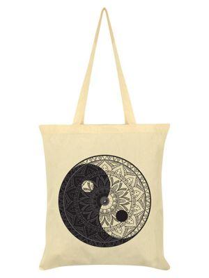 Unorthodox Yin Yang Mandala Cream Tote Bag 38x42cm