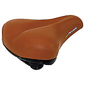 Velo Elastomer Brown Leatherette Saddle