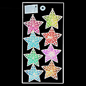 8 x 12cm Colour-Changing LED Star Lights