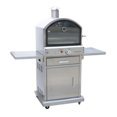 Buy Lifestyle Lfs690 Milano Stainless Steel Deluxe Gas Outdoor Garden Pizza Bbq Oven Silver