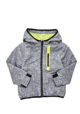 F&F Shower Resistant Speckled Rain Mac Black/Multi 18-24 months